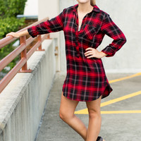 Dooley Flannel Shirt Dress