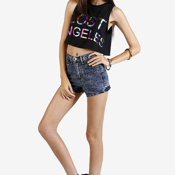 Lost Angeles Graphic Crop Top