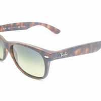 Ray-Ban RB 2132 New Wayfarer 894/76 Matte Havana Polarized Sunglasses