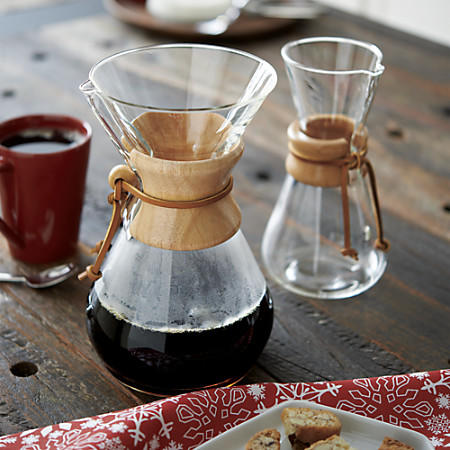 Pour Over Coffee Maker Crate And Barrel : Chemex 3-Cup Coffee Maker from Crate and Barrel Crate & Barrel