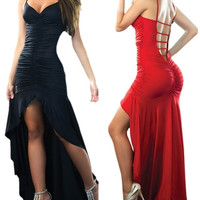Sexy V-neck Spaghetti Strap Bandage Dress Cocktail Irregular Long Maxi Evening Party Formal Ball Gowns Dresses = 1704345348