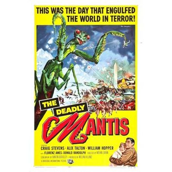 The Deadly Mantis Vintage Movie Poster