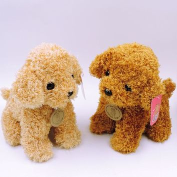 20CM Small Fluffy Puppy Plush Toy Teddy Dogs Stuffed Animals Soft Children Dolls Kids Toys Birthday New Year Gifts Decor
