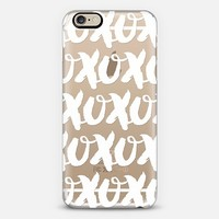 XOXO white iPhone 6 case by Noonday Design | Casetify