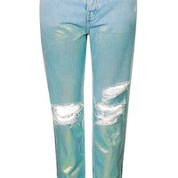 MOTO Two Tone Metallic Hayden Jeans