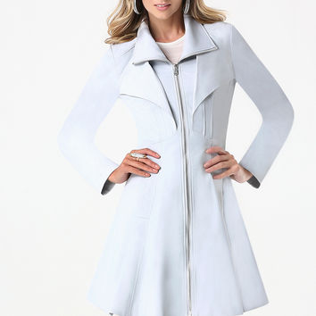 bebe Womens Margret Canvas Tea Coat