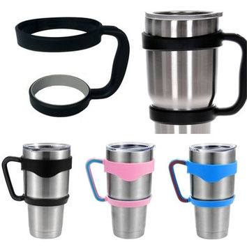 30 Oz Stainless Steel Insulated Tumbler Mug Handle,Color Black, Pink, Blue Fancy [9305892615]