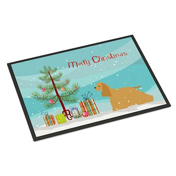 Cocker Spaniel Merry Christmas Tree Indoor or Outdoor Mat 18x27 BB2904MAT
