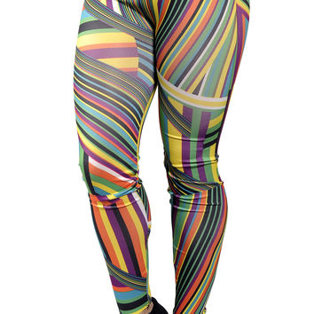 Geometric Colorful Leggings Design 247