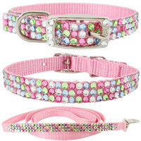 Crystal Pet Collars- Bling Dog Collars, Rhinestone Pet Collars, Puppy Collar, Dog Bling Collars, Jew