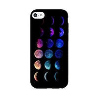 Moon Phases - Lunar Phases - Hipster Moon Phases - iPhone 6 Black Case (C) Andre Gift Shop