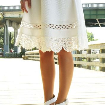 Simply Loved Skirt: White