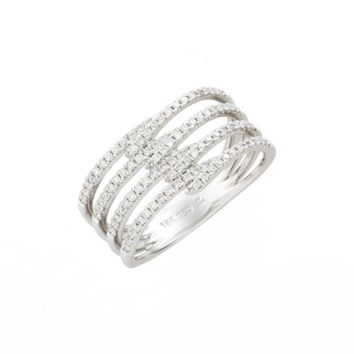 Bony Levy Kiera Four-Row Diamond Ring (Nordstrom Exclusive) | Nordstrom