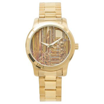 Tuba : Unisex Oversized Gold Bracelet Watch