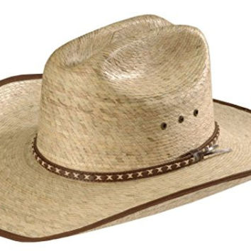 Resistol Men's Brush Hog Mexican Palm Straw Cowboy Hat Natural 7 1/4