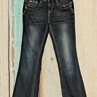 Justice Jeans Girls Size 10R Blue Denim