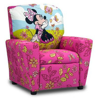 Kids Upholstered Character Fabric Arm Recliner Chair Seating
