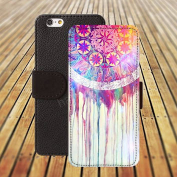 iphone 5 5s case watercolor Dreamcatcher iphone 4/4s iPhone 6 6 Plus iphone 5C Wallet Case,iPhone 5 Case,Cover,Cases colorful pattern L237