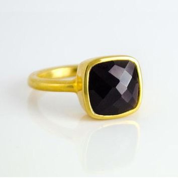 Claire Black Onyx Ring