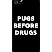 Cream Cookies - Typography Pattern Case - Pugs Before Drugs Case - Apple iPhone 5 Case - Apple iPhone 5s Case - TPU Case - Hard Rubber Case