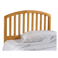 Twin size Arch Slat Headboard in Country Pine Wood Finish