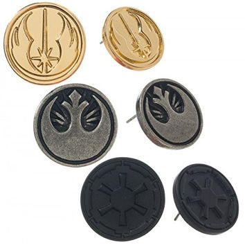 Star Wars New Hope Rebel and Imperial Logo Earrings - Set of 3