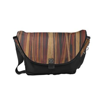 Patterned background hay small messenger bag
