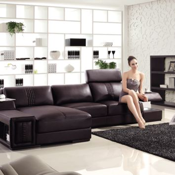 Divani Casa T132 Mini - Modern Leather Sectional Sofa
