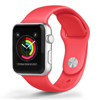 Apple - Apple Watch™ Soft Silicone Bands Red (38mm)
