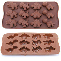 Different Dinosaur type silicone cake Chocolate Mold Jelly Mold Cake Moulds Bakeware