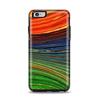 The Green, Blue and Red Painted Oil Waves Apple iPhone 6 Plus Otterbox Symmetry Case Skin Set