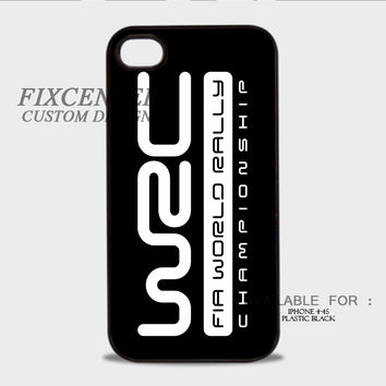 WRC World Rally Championship Logo Black - iPhone 4/4S Case
