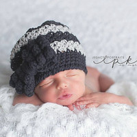Crochet Pattern for Bella Slouch Beanie Hat with Bobble Bow - 8 sizes, preemie/doll to large adult - Welcome to sell finished items