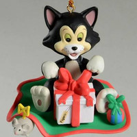 Disney Figaro the cat from Pinocchio Christmas Ornament Grolier President Edition #021903- RARE