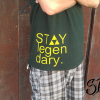 "Dark green ""Stay Legendary"" men's t-shirt"