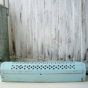 Mint Distressed Incense Burner, Incense Coffin, Incense Box, Light Green Wooden Box, Shabby Chic Wooden Box, Gift Ideas