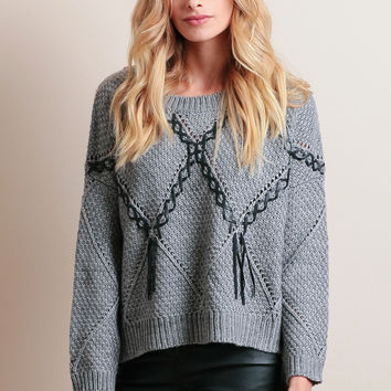 In Stitches Oversized Sweater