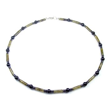Mens Chakra Necklace Labradorite Crystal Healing Stones Energy Balancing Jewelry SELF ESTEEM MN04