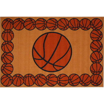 Fun Rugs Fun Time Collection Basketball Time Area Rug