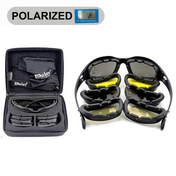 Polarized Army Goggles, Military 4 Lens Kit, War Game Tactical sunglasses