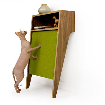 Mid Century Modern Pet Furniture // Cat Scratcher // Console Table