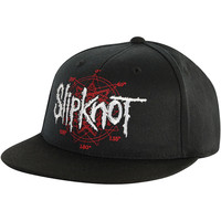 Slipknot Men's  Star Flat Brim Baseball Cap Black