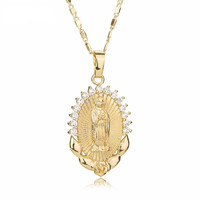 Adorable, Vintage Virgin Mary Pendant Necklace