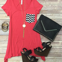 Chevron Pocket Tunic