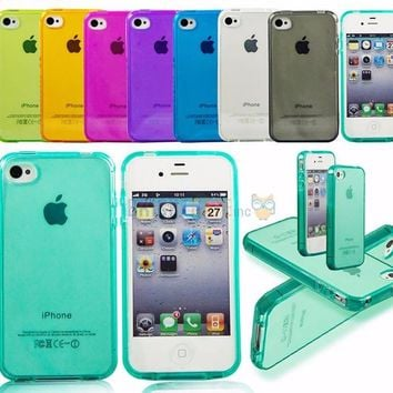 JELLY Phone Case For iPhone X, 7, 8, 4S, 5S, SE, 6, 6s