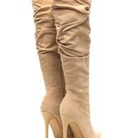 Perfect Slouchy Fit Faux Suede Boots GoJane.com