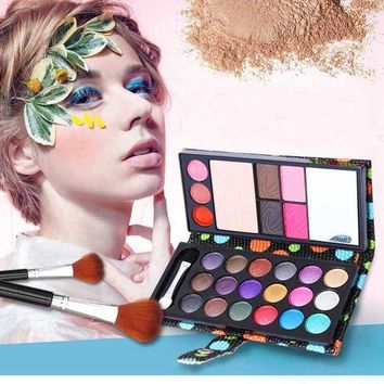 ONETOW 18 color liquid eye shadows + 2 blush + pressed powder + 3 Lip frozen + 2 Eyebrow Professional Makeup Sets naked Eyeshadow