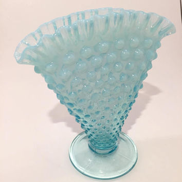 Shop Blue Hobnail Glass On Wanelo