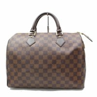 Authentic Louis Vuitton Hand Bag Speedy 30 Ebene N41531 Browns Damier 170971