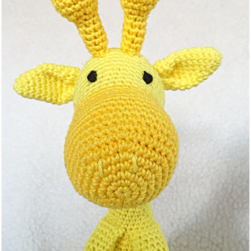 Giraffe amigurumi PDF crochet pattern in Dutch or English